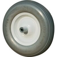 "Flat Free Wheelbarrow Replacement Wheel, 16"" x 4"""