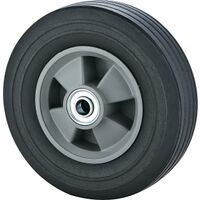"Solid Rubber Hand Truck Wheel, 8"" x 2.25"""