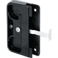 Plastic Screen Door Mortise Latch Pull, Black