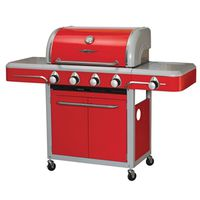 GRILL CART 4-BURNER APPLE RED