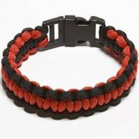 PARACORD BRACELET BLK/RED MED