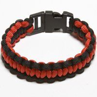 PARACORD BRACELET BLACK/RED MED