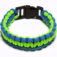 PARACORD BRACELET BLUE/GREEN MED
