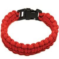 PARACORD BRACELET RED MED