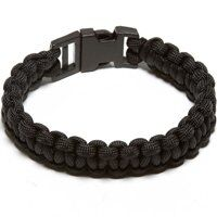 PARACORD BRACELET BLACK LARGE