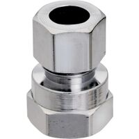"Low Lead Straight Water Supply Line Connector, 1/2"" x 3/8"""