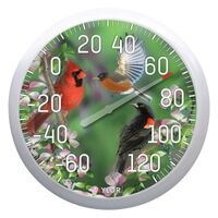 Patio Thermometer with Birdhouses, 13""
