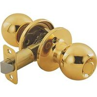 Toolbasix 6072PB-BK-3L Ball Door Knob Lockset