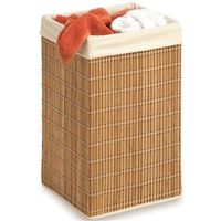 HAMPER SQUARE BAMBOO WICKER