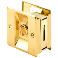 Brass Pocket Door Lock & Pull