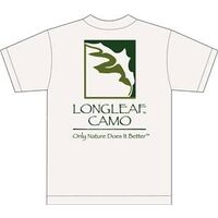 Longleaf Camo Logo T Shirt, Small White