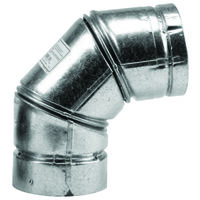 Pellet Stove Pipe 90 Degree Elbow, 3""