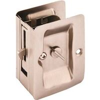 "Pocket Door Privacy Latch, 1 3/8"" Satin Nickel"
