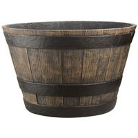 20IN CAST STONE WHISKEY BARREL