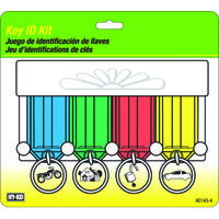 Key ID Kit with 4 Easy Open Key Tag, Cannot Choose Specific Colors