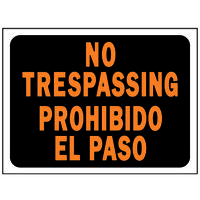 "Bi-Lingual ""No Trespassing"" Sign, 9"" x 12"""