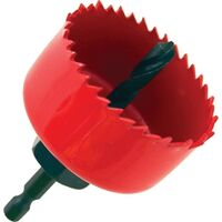 Carbon Steel Hole Saw with Mandrel, 2 1/8""