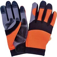 Microfiber Synthetic Leather Spandex Gloves, Large