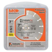 Contractor Plus Segmented Circular Saw Blade, 7""
