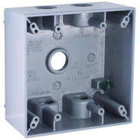 "Rectangular Box Outlet Cover, 5 1/2"" Gray"