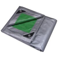 Heavy Duty Poly Tarp, 9' x 12' Green & Silver