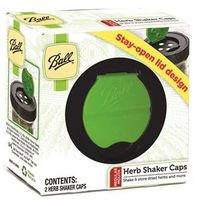BALL REGULAR MOUTH HERB SHAKER LIDS 2-PACK