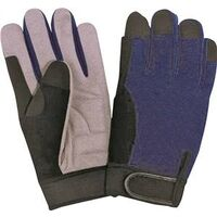 Synthetic Leather Palm Gloves, Medium