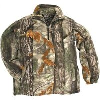 Camouflage Pull Over Fleece Jacket, Medium