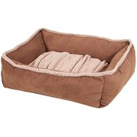 BED PET 35X27 LOUNGE DARK TAN