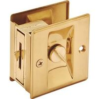 "Pocket Door Privacy Latch, 1 3/8"" Brass"