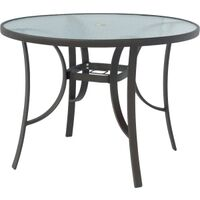 "Laguana Steel Dining Table, 42"" Round"