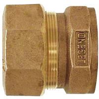 Copper Compression Coupling, 3/4""