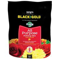 Sun Gro Horticulture 1410102 8.00 QT P Black Gold Potting Soil, All Purpose, 8 Quart