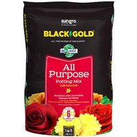 Sun Gro Horticulture 1410102 1.0 CFL P Black Gold Potting Soil, All Purpose, 1 CF