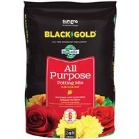 Sun Gro Horticulture 1410102 2.0 CFL P Black Gold Potting Soil, All Purpose, 2 CF