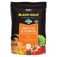 Sun Gro Horticulture 1402040 2 CFL P Black Gold Potting Soil, Natural/Organic, 2 CF