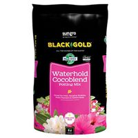 Sun Gro 1402030 16 QT P Black Gold Potting Soil, Coco Blend, Waterhold, 16 Qt