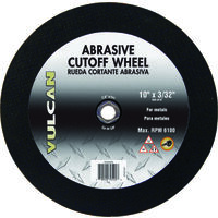 "Abrasive Cut Off Wheel, 10"" x 3/32"""