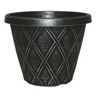 PLANTER 13IN ROUND SILVR BRUSH