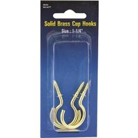 Solid Brass Cup Hook, 1 1/4&quot;