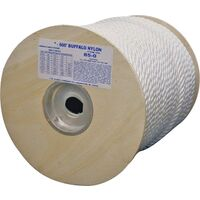 "Twist Nylon Rope, 1/2"" x 300'"