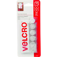 """Coin Velcro Fasteners, 5/8"""" Clear"""