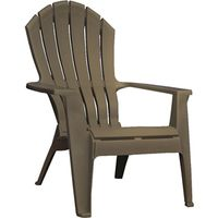 Adams 8371-60-3700 Real Comfort Adirondack Chairs, Stackable Brown 37.5 x 30 x 32.5In