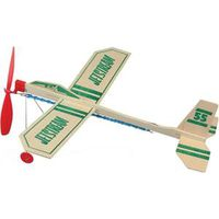 RUBBER BAND AIRPLANE W WHEELS