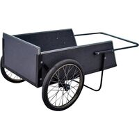 Wooden Dump Cart with Steel Frame, 7 Cu'