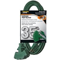 Powerzone OR605627 SJTW Triple Tap Extension Cord, 16/3, 35 ft