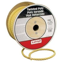 "Twisted Poly Rope, 1/2"" x 300' Yellow"