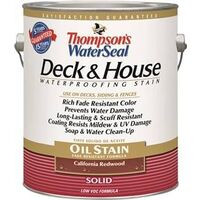 Deck & House Oil Stain , California Redwood 1 Gal