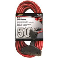 Powerzone ORK606730 SJTW Triple Tap Extension Cord, 14/3, 50 ft