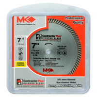 Contractor Plus Turbo Segmented Circular Saw Blade, 7""